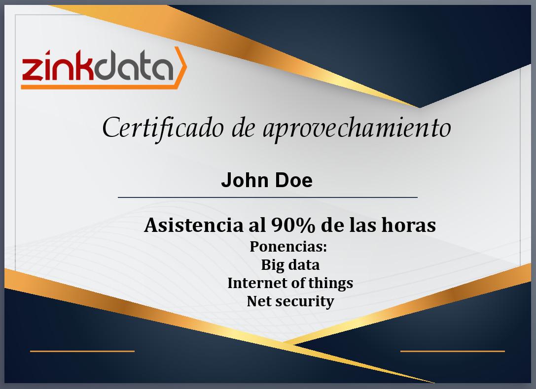 certificados de asistencia al evento